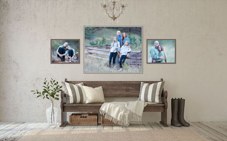 Family wall art display