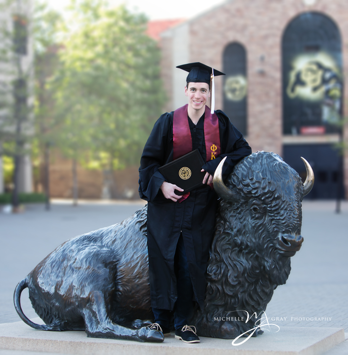 Colorado University Graduatio portrait