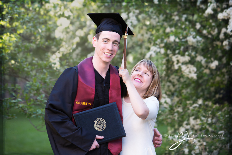 Colorado University Graduation Family portrait