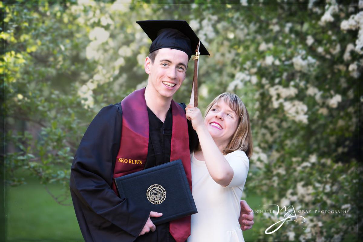 Colorado University Graduation Family portrait