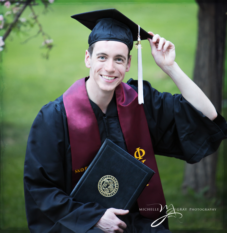 Colorado University Graduation portrait